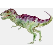 GreenBox Art Canvas Dinosaur Portrait T Rex 14x10
