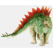 GreenBox Art Canvas Dinosaur Portrait Stegosaurus 14 x 10
