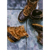 GreenBox Art Canvas Boots Off! 14 x 18