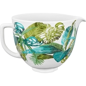 KitchenAid 5 Quart Tropical Floral Ceramic Bowl