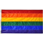 Annin Flagmakers 3x5 ft. Nyl Glo Rainbow Flag