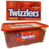 Strawberry Twizzlers in a 5 lb. Tub