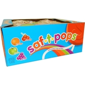 Saf-T-Pops Letters and Numbers Suckers 100 pk.