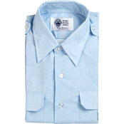 DLATS Men's Blue Short Sleeve Shirt