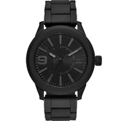 Diesel Men's Rasp NSBB 3 Hand Black Stainless Steel 50mm Watch DZ1873