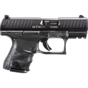 Walther PPQ M2 SC 9mm 3.5 in. Barrel 10 Rnd 3 Mag NS Pistol Black