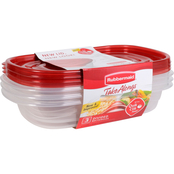 Rubbermaid Rectangle Divided TakeAlongs 3 pk.