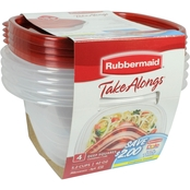 Rubbermaid Deep Square Takealongs 4 pk.