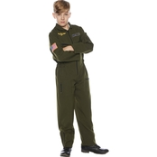 Morris Costumes Little Boys / Boys Khaki Flight Suit Costume