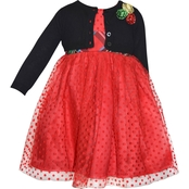 Blueberi Boulevard Little Girls Special Occasion Sweater Dress