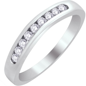 14K White Gold 1/4 CTW Diamond Bridal Wrap Ring
