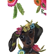 GreenBox Art Boho Dachshund Canvas Wall Art 10 x 14