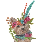 Greenbox Art 10 x 14 Boho Yorkie Canvas Wall Art
