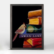 GreenBox Art Literary Roost Feathers and Fiction Mini Framed Canvas Wall Art 5 x 7