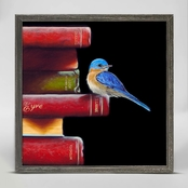 GreenBox Art Literary Roost Got Book Worms Mini Framed Canvas Wall Art 6 x 6