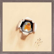 Greenbox Art 6 x 6 Trespasser Cheeky Beggar Mini Framed Canvas Wall Art
