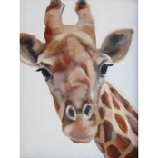 Greenbox Art 10 x 14 Inquisitive Giraffe Canvas Wall Art