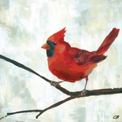 GreenBox Art Red Cardinal Canvas Wall Art 18 x 18