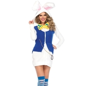Leg Avenue Women's Rabbit White Cozy Costume