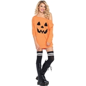 Leg Avenue Women's Jersey Dress Pumpkin