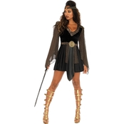 Leg Avenue Women's Glamazon Warrior Dress 2 Pc. / Plus Size Glamazon Warrior Dress