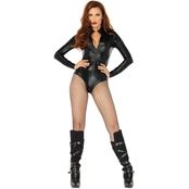 Leg Avenue Women's Wet Look High Neck Bodysuit