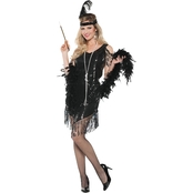 Underwraps Costumes Women's Swingin' Black Twenties Dress with Headband
