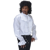 Morris Costumes Men's White Goth Shirt Costume