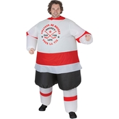 Gemmy Men's Inflatable Hockey Player Costume