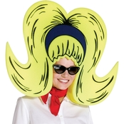 Rasta Impasta Yellow Bouffant Foam Wig Giant