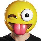 Morris Costumes Tongue Out Emoticon Mask