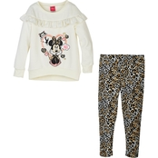 Disney Little Girls Minnie Fleece Leggings Set