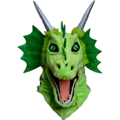 Forum Novelties Adult Moving Jaw Green Dragon Mask