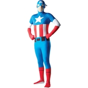 Rubie's Costume Men's Captain America Second Skin Costume
