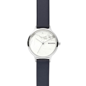 Skagen Women's Anita Leather Stone Watch