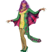 Forum Novelties Women's Dazzling Dragon Dress with Mask Costume