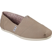 Skechers Women's BOBS Plush Peace and Love Canvas Slip On Shoes