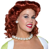 Morris Costumes Women's Vintage Housewife Red Wig