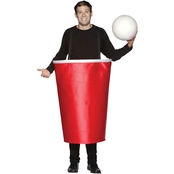 Morris Costumes Adult Red Beer Pong Cup Costume