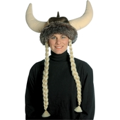 Morris Costumes Men's Space Viking Hat with Braids
