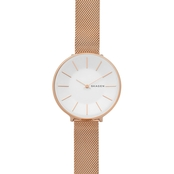 Skagen Women's Karolina Rose Gold Tone Steel Mesh Watch 38mm SKW2688