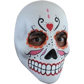 Ghoulish Adult Day of the Dead Catrin Deluxe Mask