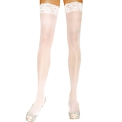 Leg Avenue Women's Thigh High Lace Top Nylon Sheer Stockings