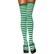 Leg Avenue Women's Thigh High Striped Stockings