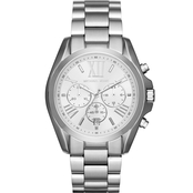 Michael Kors Women's Bradshaw Silvertone Chronograph Watch MK5535