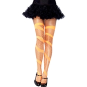 Leg Avenue Women's Diamond Net Neon Thigh High Stockings