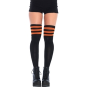 Leg Avenue Women's 3 Stripe Thigh High Stockings