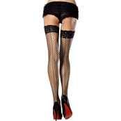 Leg Avenue Women's Thigh High Fishnet Stockings with Seam