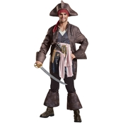 Disguise Men's Pirates of the Caribbean 5 Captain Jack Deluxe Costume