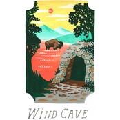 GreenBox Art Canvas National Parks, Wind Cave 14x18